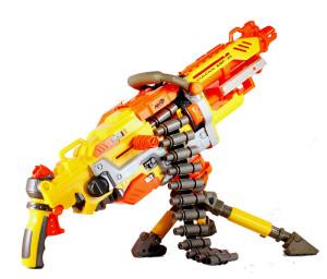 firing Nerf gun models
